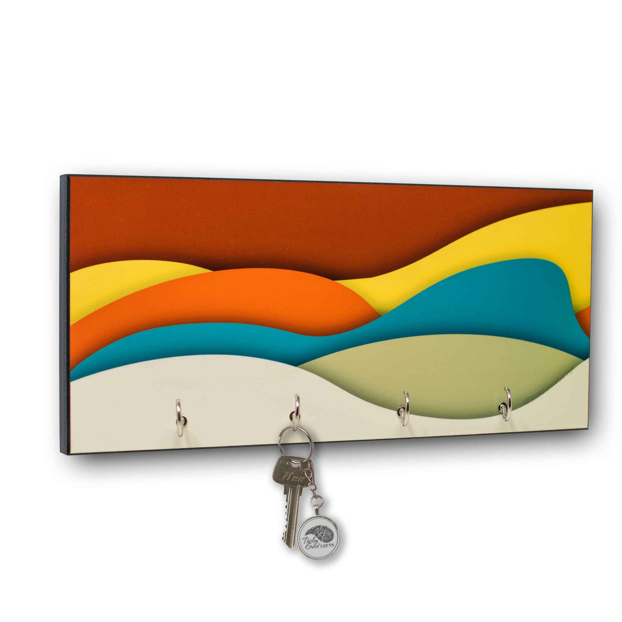 CopyrightPaisleyGroveGIFTS S309a Mid Century Modern key holder for wall Art Deco Decor key organizer