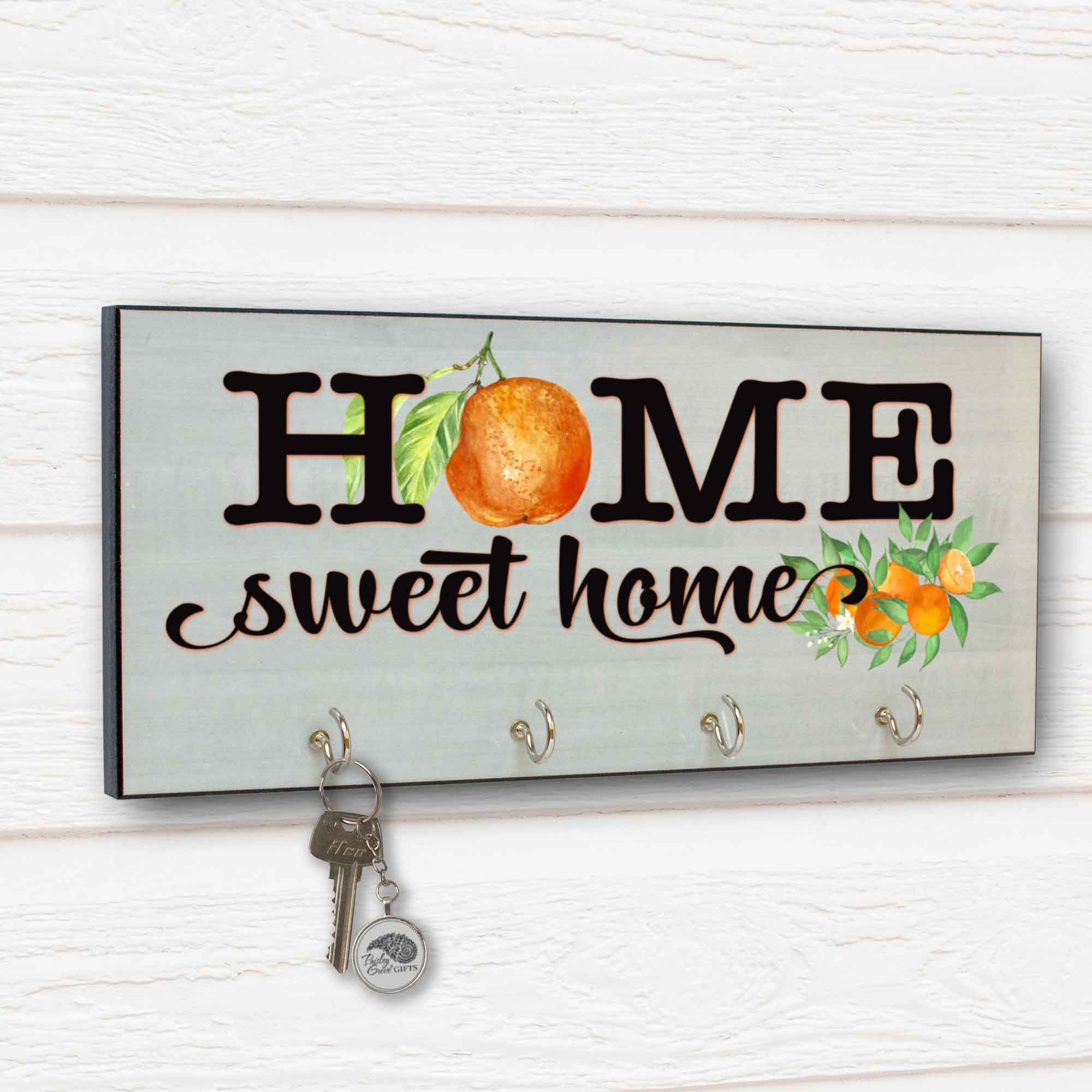 CopyrightPaisleyGroveGIFTS S311a Home Sweet Home with oranges for Redlands Riverside Orange Groves Decor