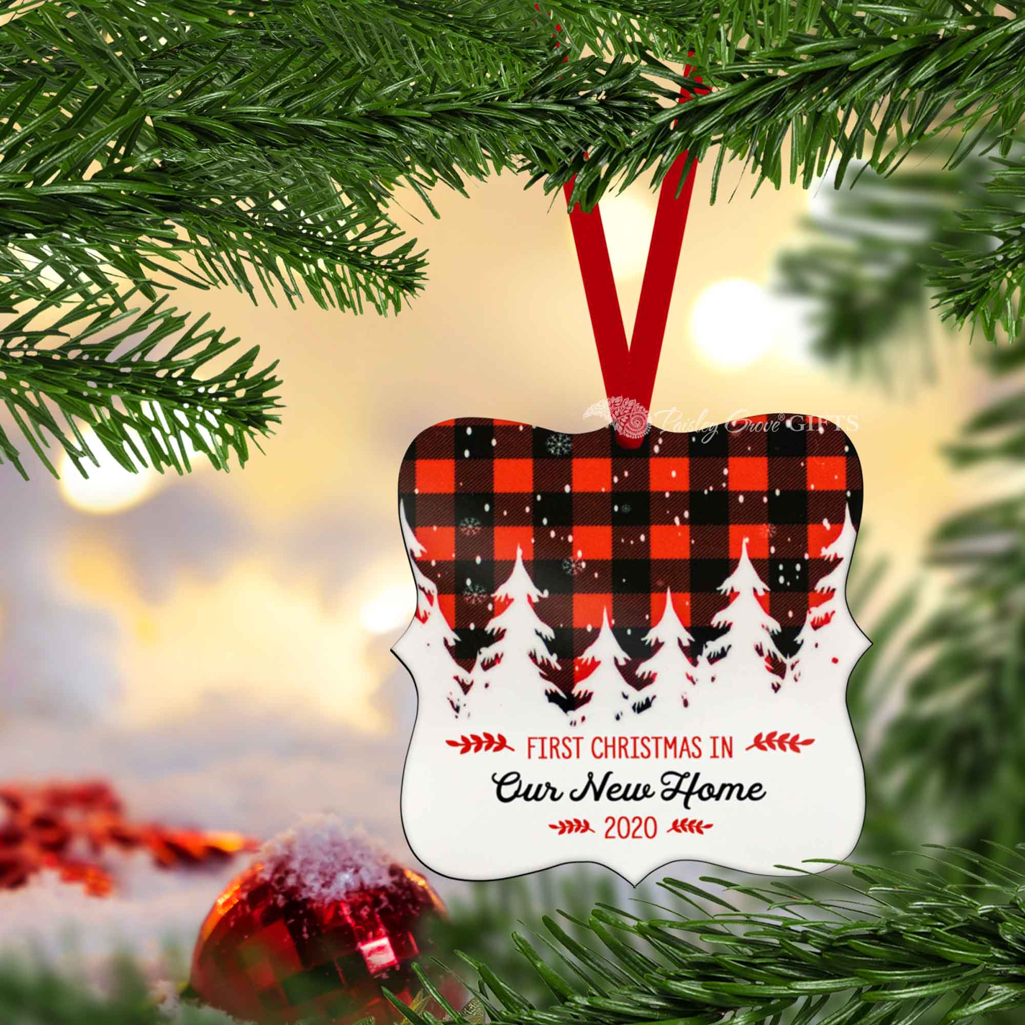 CopyrightPaisleyGroveGIFTS S502g New Home Holiday Keepsake Ornament Gift from Real Estate Agent