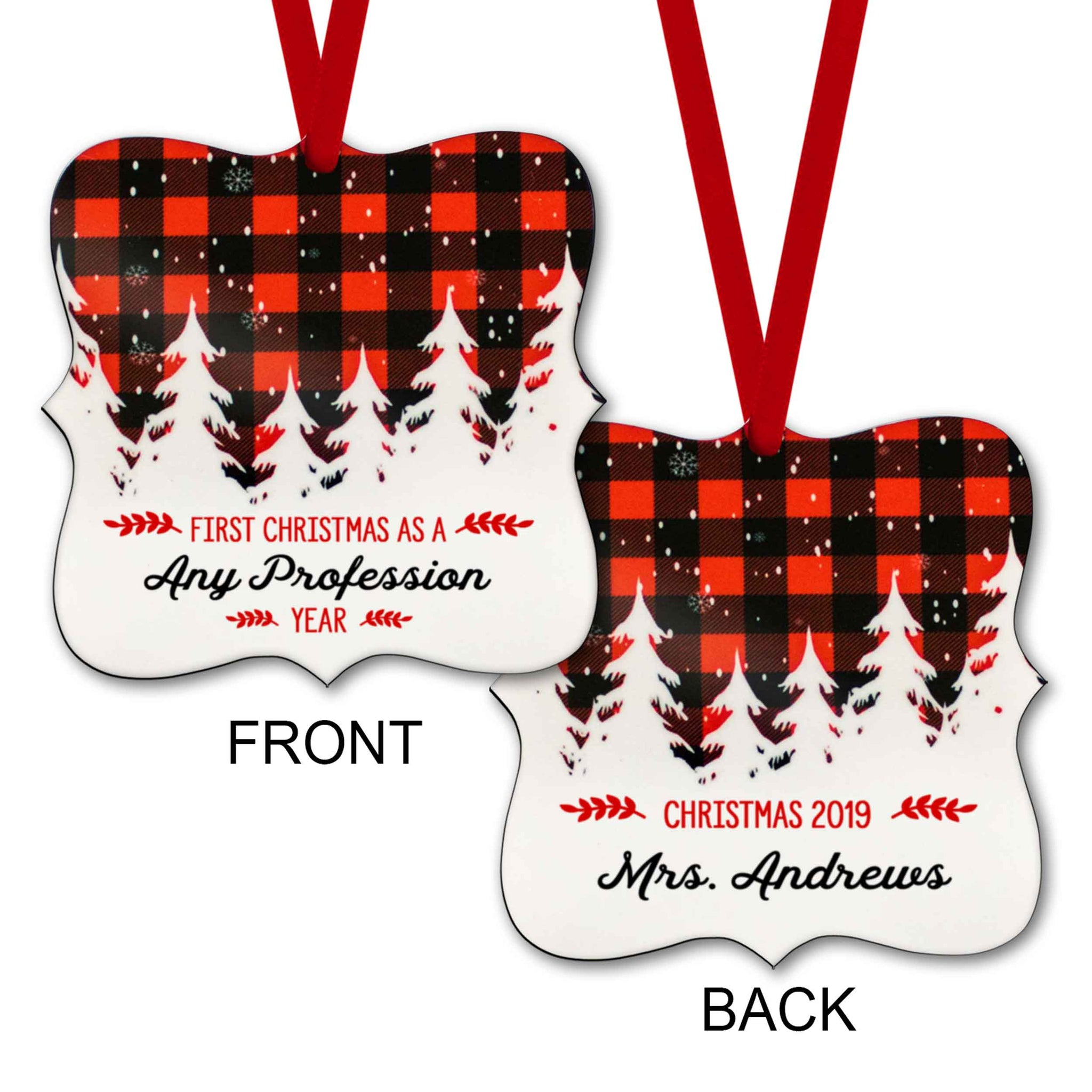CopyrightPaisleyGroveGIFTS S502m Customized Personalized First Christmas Ornament Any Profession with Custom Year