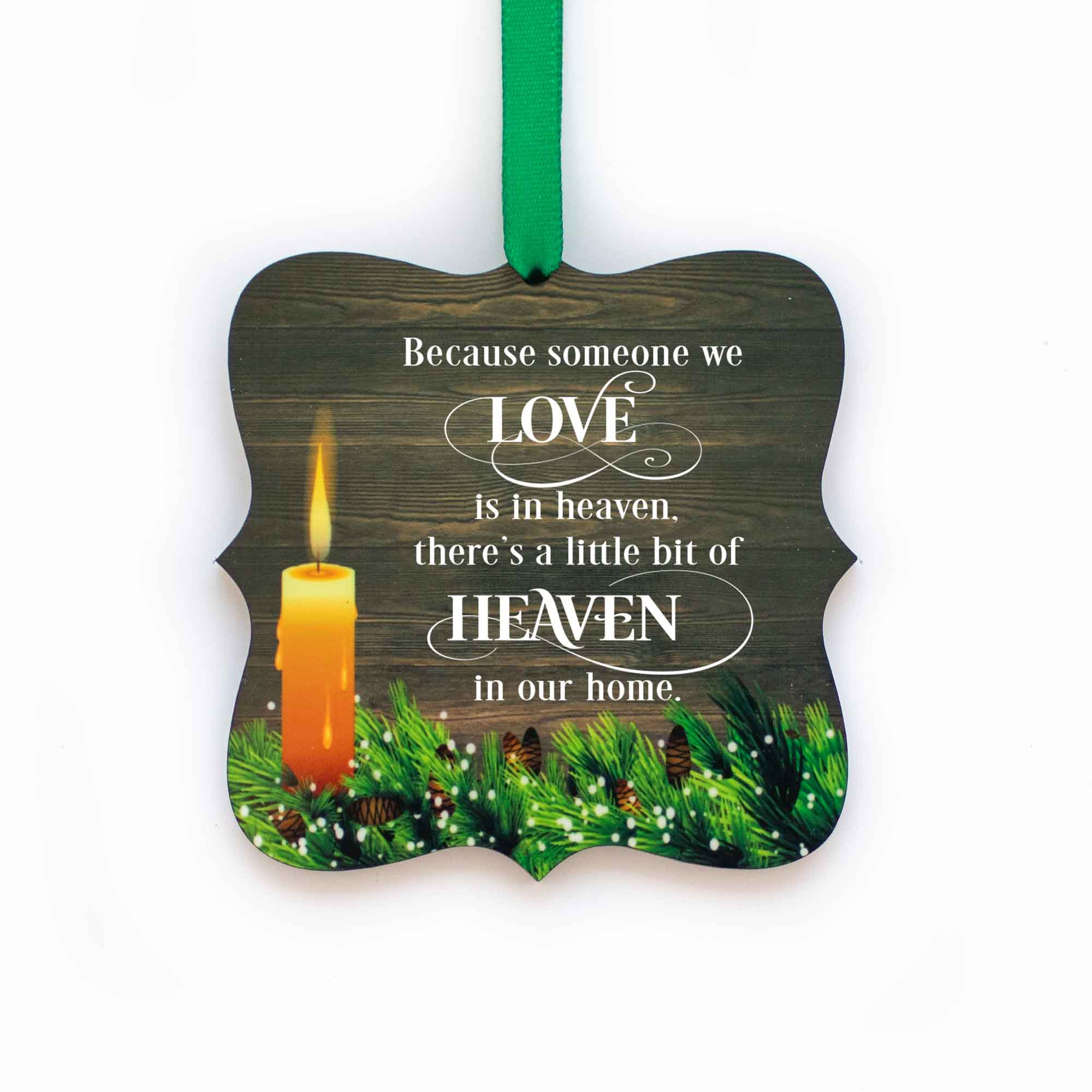 CopyrightPaisleyGroveGIFTS S508a Memorial Ornaments with ribbon in rustic traditional design sympathy gift