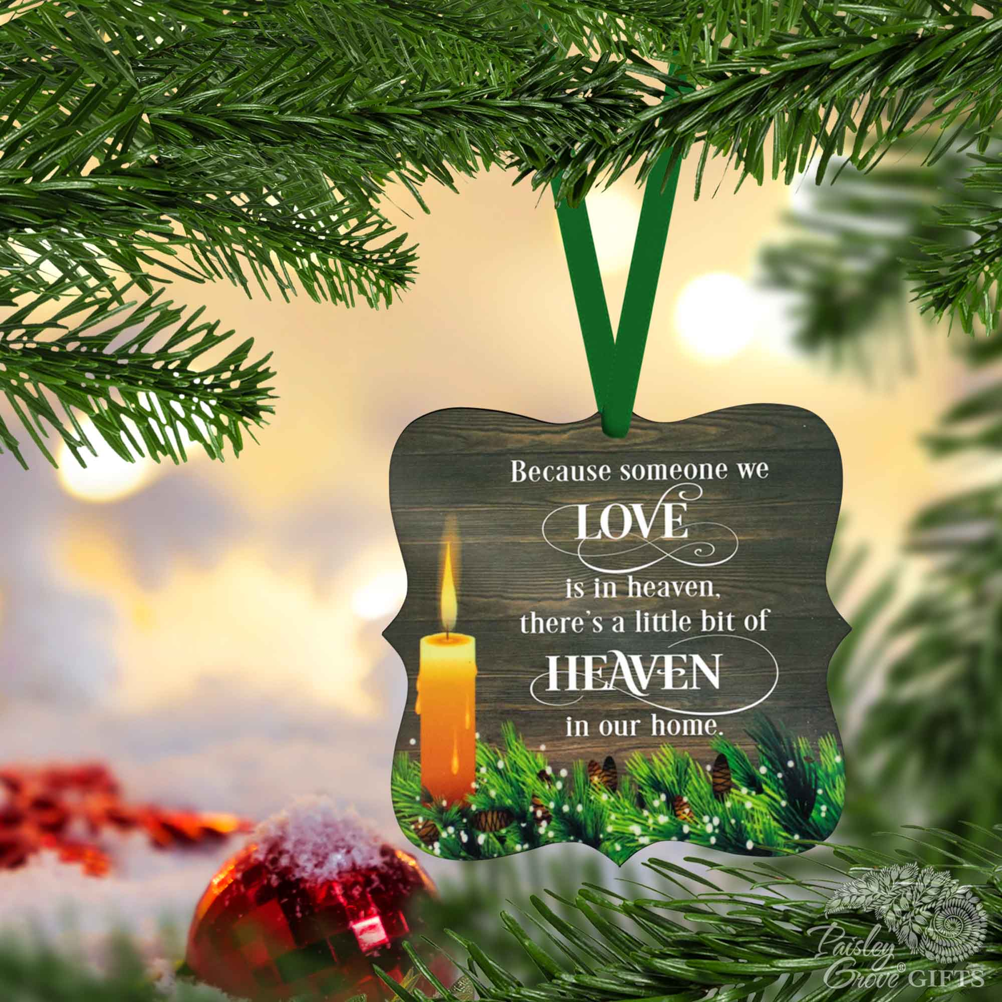 CopyrightPaisleyGroveGIFTS S508a Bereavement Christmas Ornament for Death of Loved One Holiday Decor
