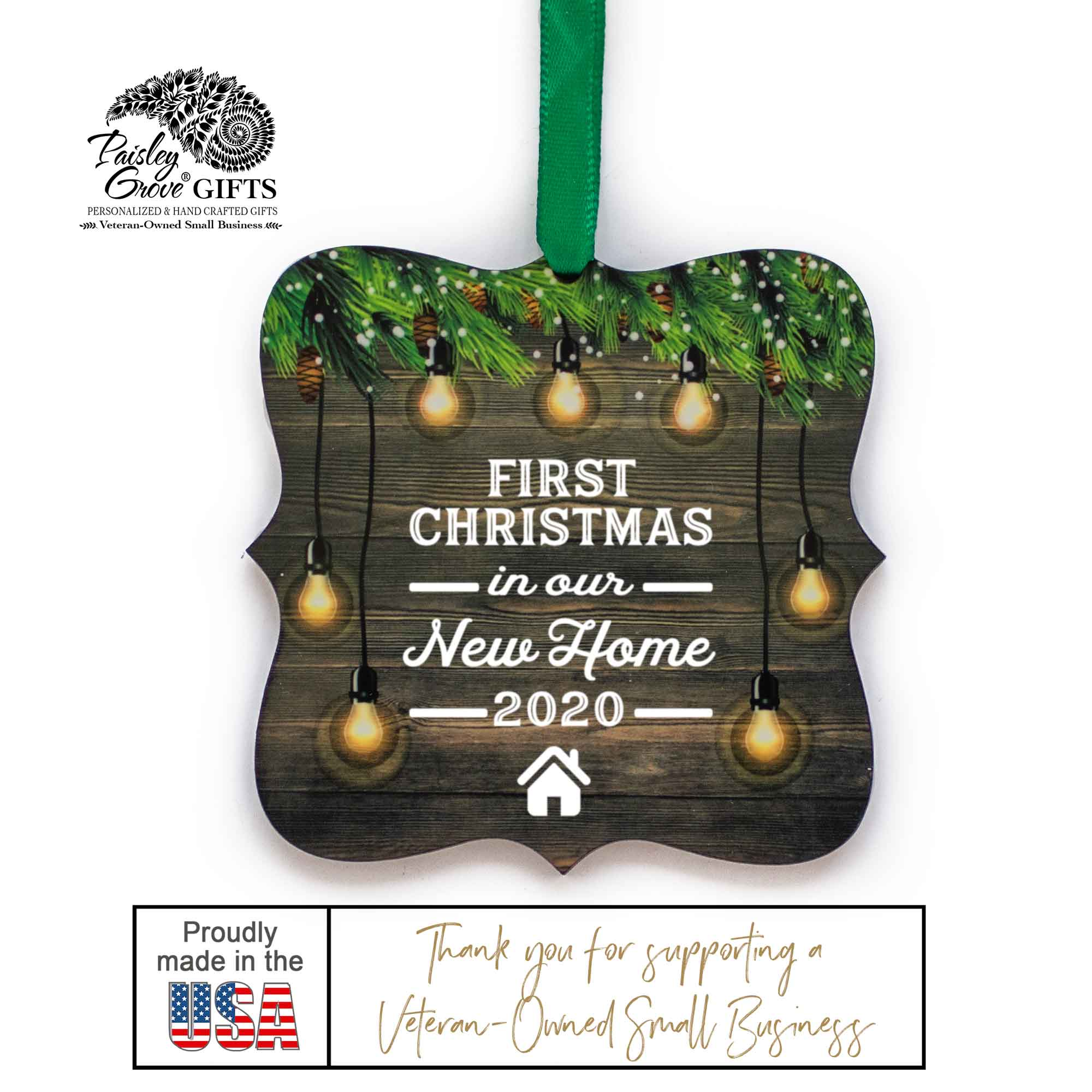 CopyrightPaisleyGroveGIFTS S510m New Homeowner Christmas Ornament Gift Made in the USA