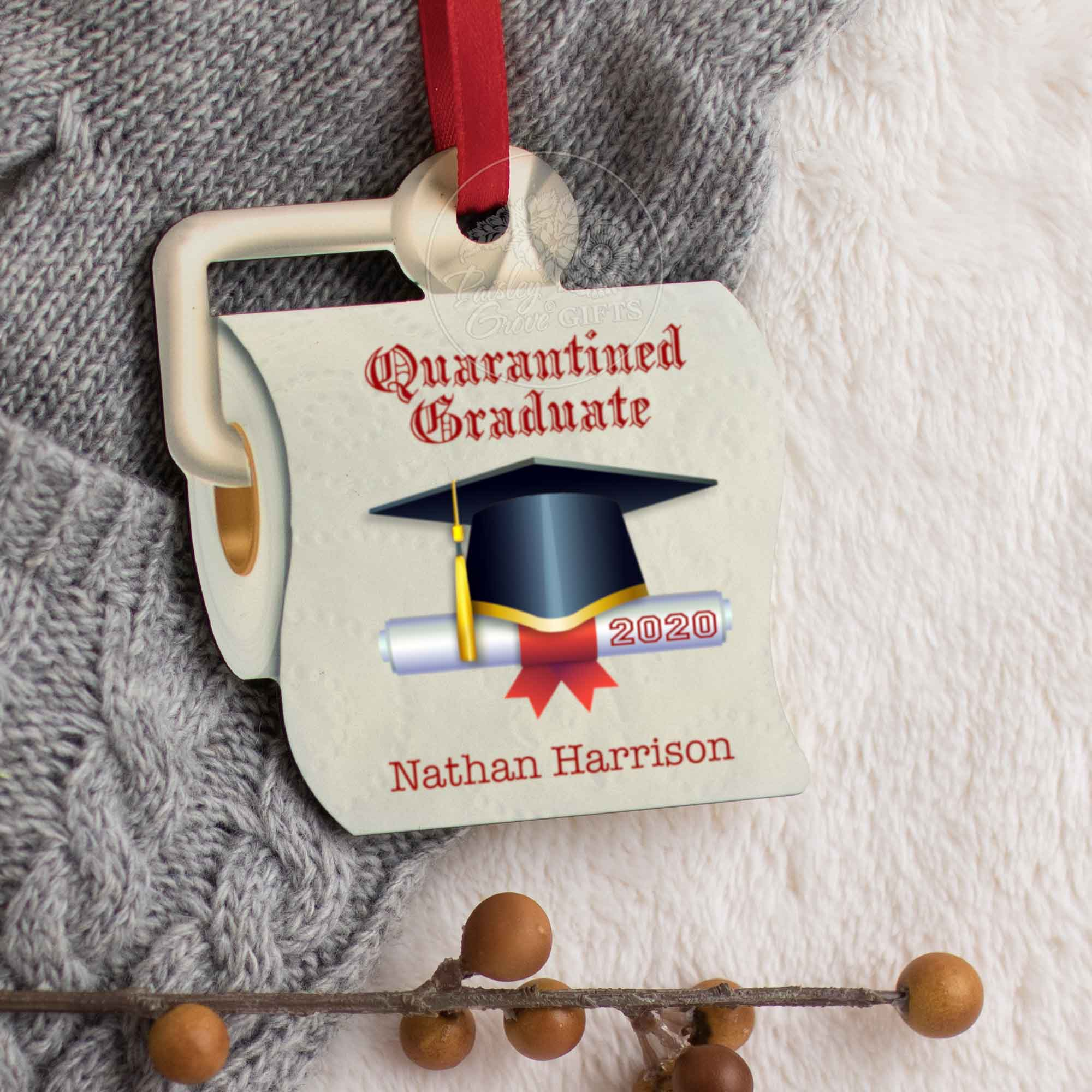 CopyrightPaisleyGroveGIFTS S525c1 Unique Christmas Ornament 2020 Quarantined Christmas Gift for Graduates