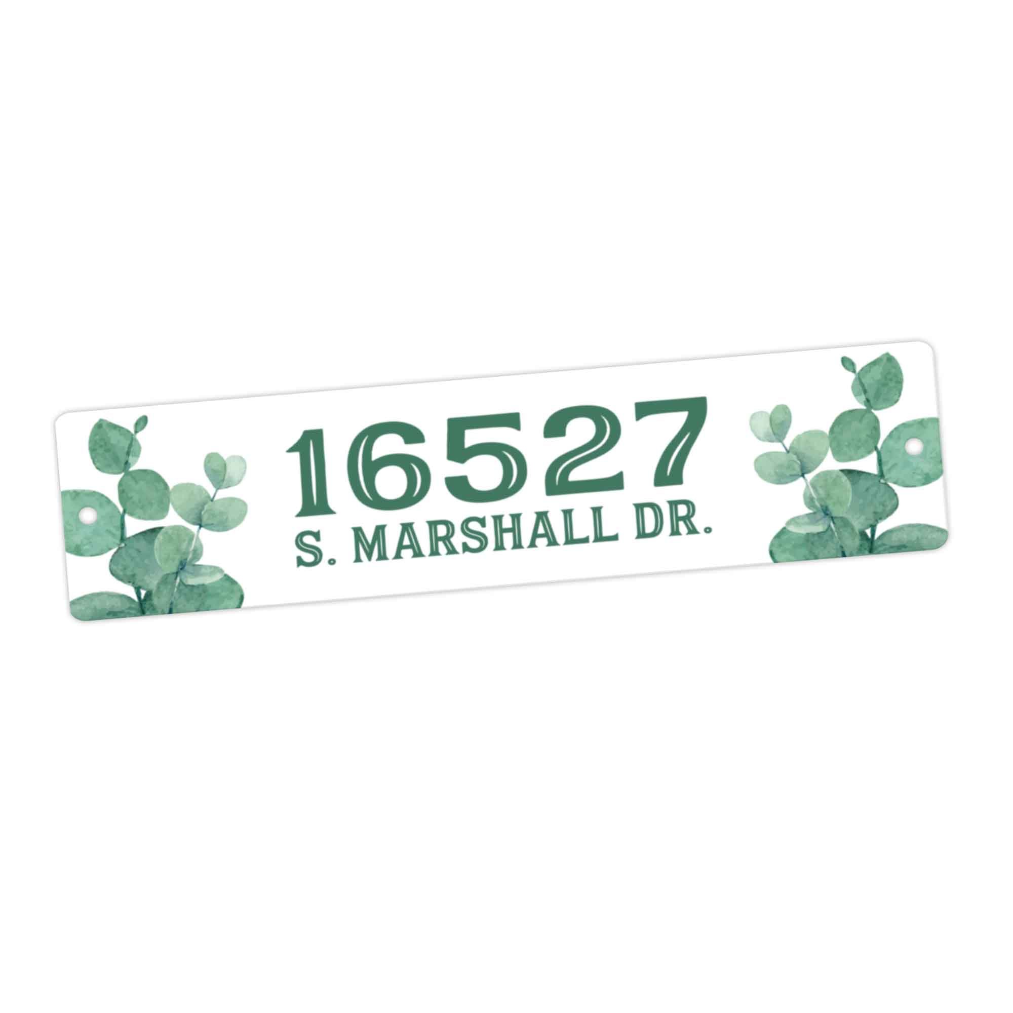 CopyrightPaisleyGroveGIFTS S951e Custom House Number  Door Sign with eucalyptus leaves