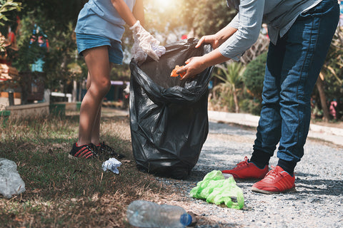 sustainable trash cleanup