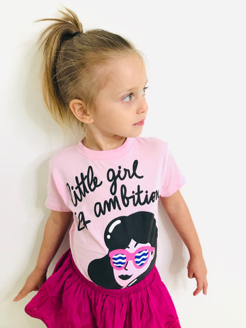 Little Girl, Big Ambition Girls Tshirt
