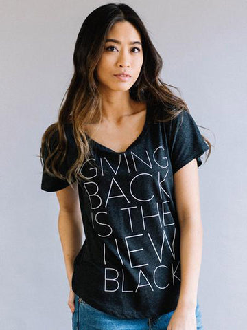 Giving Back is the New Black Tee - Black
