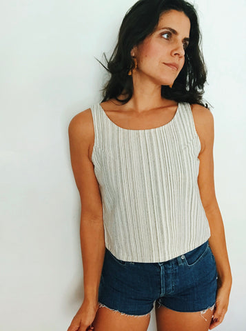 Repurposed Cotton Tank Top