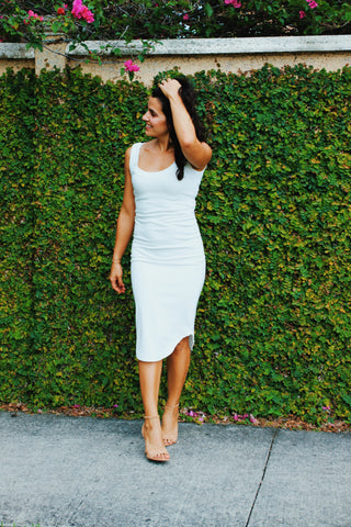 Miami Summer | Mid-Length White Dress
