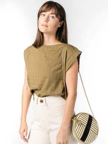 Stripe Liso Roundie Bag