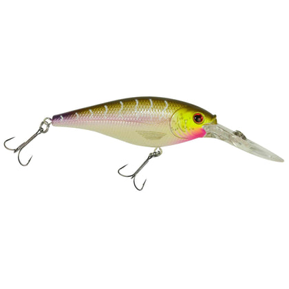 "Flicker Shad Hard Bait - 2 3-4"" Length, 11'13' Swimming Depth, 2 Hooks, Purple Tiger, Per 1"