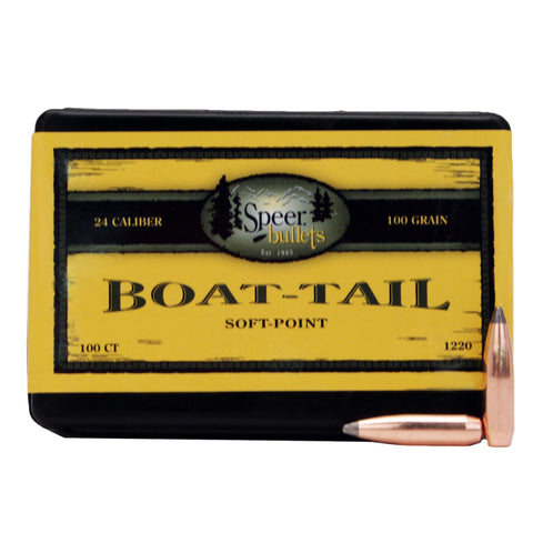 "6mm-.243 Caliber Bullets - (.243"" Diameter), 100 Grains, Spitzer Boat Tail (BT), Per 100"