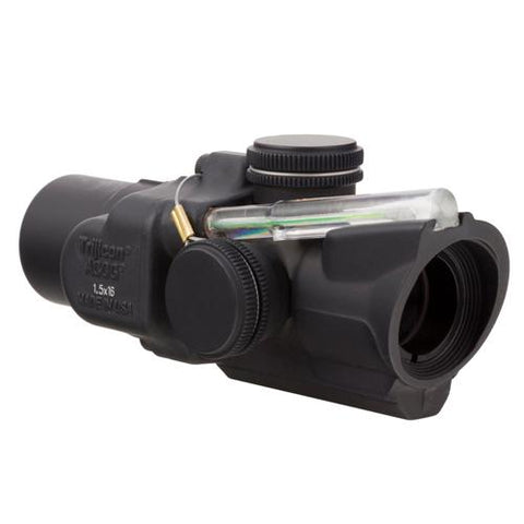ACOG 1.5x16S Compact Low Height Scope - Dual Illuminated Green Ring and 2 MOA Center Dot Reticle, Black
