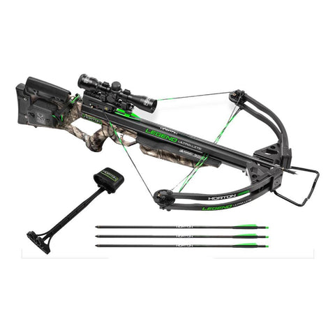 Legend Ultra-Lite Package - with 3x Pro Vioew Scope, Arrows-Quiver, ACudraw, Mossy Oak Treestand