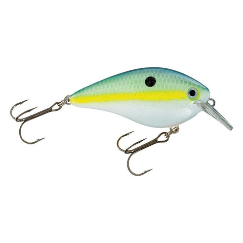 "KVD Square Bill Silent Crankbaits - 2 3-4"" Length, 5-8 oz, #2 Hook, Chartreuse Sexy Shad, Package of 1"