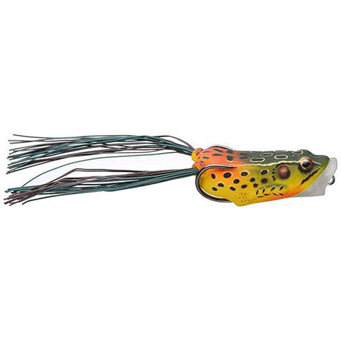 "Frog Body Hollow Body Popper Bait - Freshwater, 2 1-2"" Length, 1-2 oz Weight, Emerald-Red, Per 1"