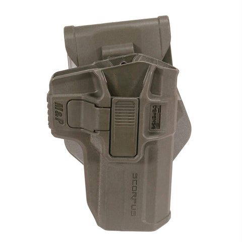 Smith & Wesson M&P Level 2 Holster - Retention, Paddle-Belt, Smith & Wesson M&P 9-.40, Ambidextrous, Olive Drab Green
