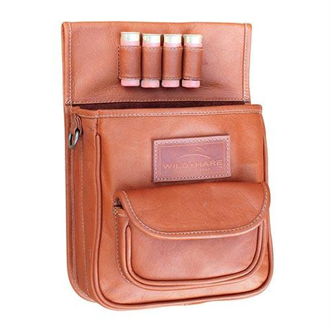 Wild Hare Leather Deluxe Shot Shell Pouch - Dusk (Saddle Tan)