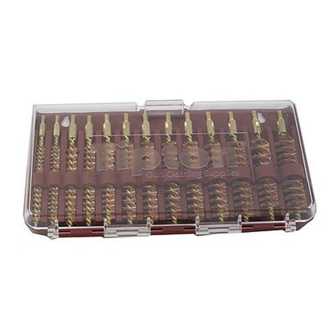 13 Piece Rifle Bore Brush Set, Bronze