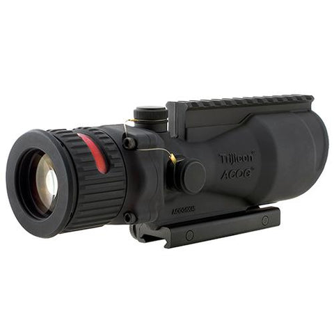 ACOG 6x48mm Dual Illumination Scope - Red Chevron .500 Ballistic Reticle with TA75 Mount and M1913 Rail, Black