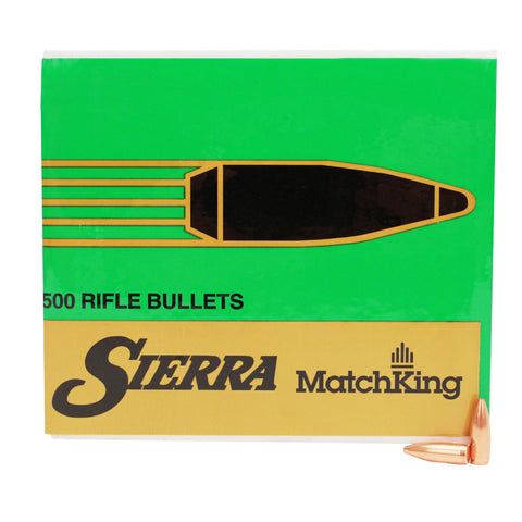 22 Caliber - MatchKing, 52 Grains, Hollow Point Boat Tail, Per 500