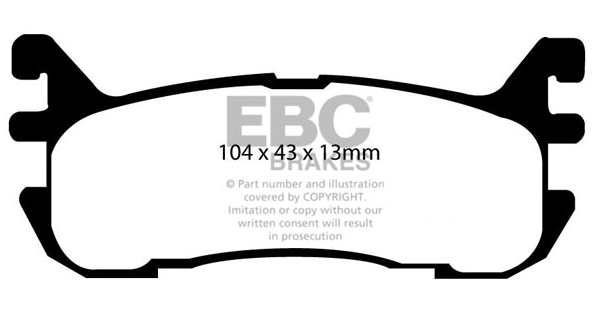 EBC Yellowstuff pads for MX5 Mk1/2 (NA/NB) Rear