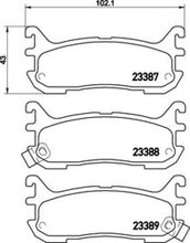 CL pads for Mazda MX5 NA/NB 1.8 (rear)