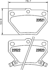 Mintex pads for Toyota Celica Gen 7 Rear