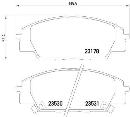 Mintex pads for Honda Civic EP3/FN2 front calipers