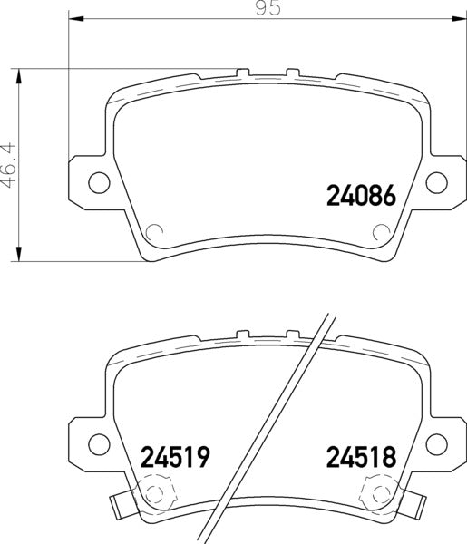 Mintex pads for Honda Civic FN2 rear calipers