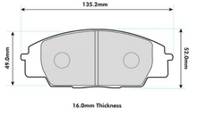 Honda Civic Type R (EP3/FN2) PBS Pro Track pads (Front)