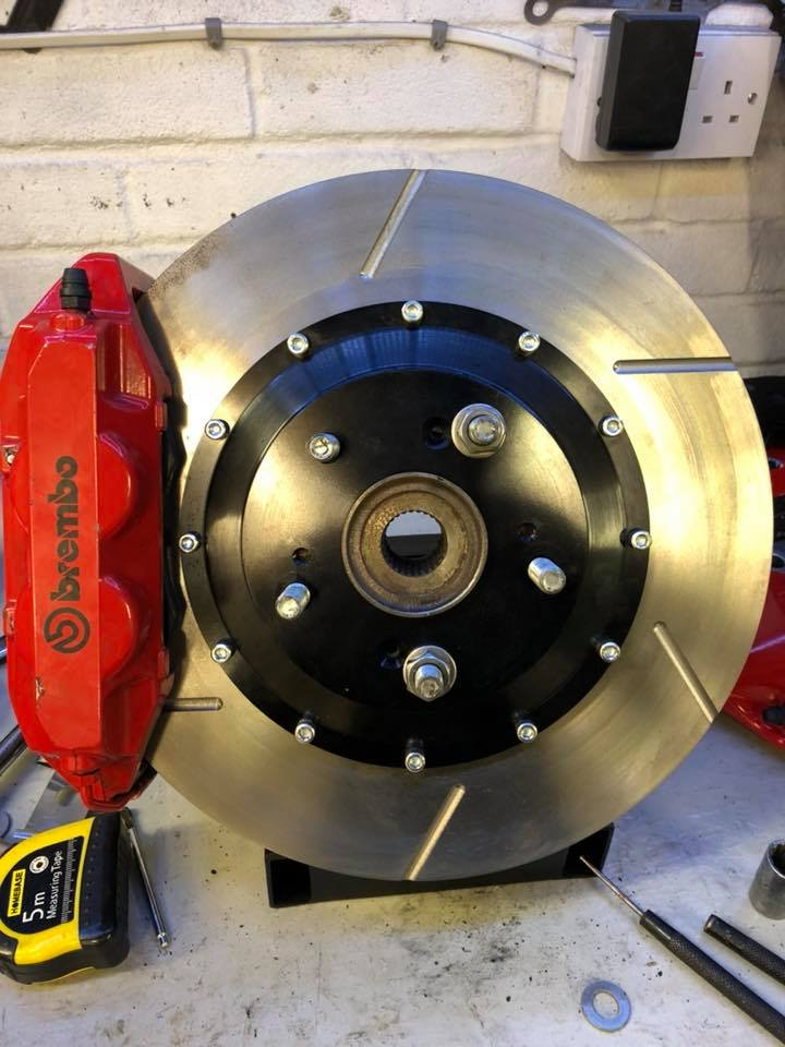 Honda Brembo 4 pot 330x28mm 2 piece disc upgrade (Mk2 calipers)