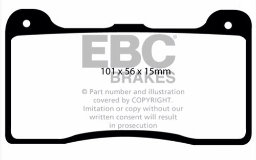 EBC Bluestuff pads for Wilwood Midilite calipers