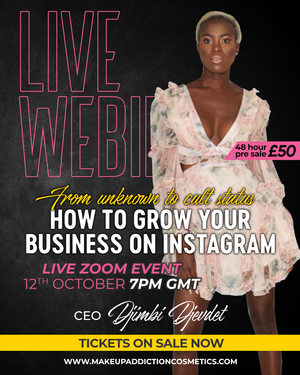 Live Webinar| From Unknown to Cult Status: How to grow your business on instagram