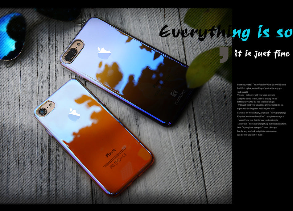 FLOVEME Case For iPhone X Luxury Case Gradient Hard Clear Cover For iPhone X 10 Ten Changing Color Case - iDeviceCase.com