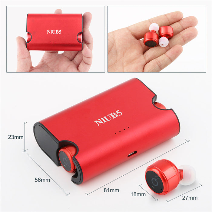 True Wireless Twins Earphones 4.2 NiUB5 Mini Invisible Wireless Bluetooth Earphone - iDeviceCase.com