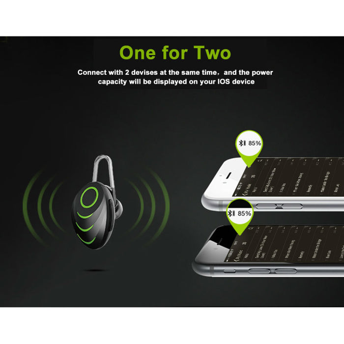 GLYLEZEE Bluetooth Headset 4.0 Handfree Wireless Mini Bluetooth Earphone with Mic Car for Phone Call - iDeviceCase.com