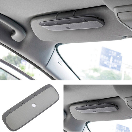 Universal Bluetooth In-Car Speakerphone Sun Visor Wireless Car Kit Music Receiver + Car Charger - iDeviceCase.com