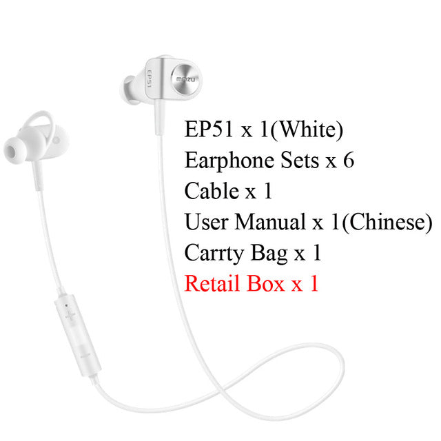 Original Meizu EP51 Earphone Wireless Bluetooth Earphone Stereo Headset Waterproof EP51 Sport Earphone For iPhone 7 Android iOS - iDeviceCase.com