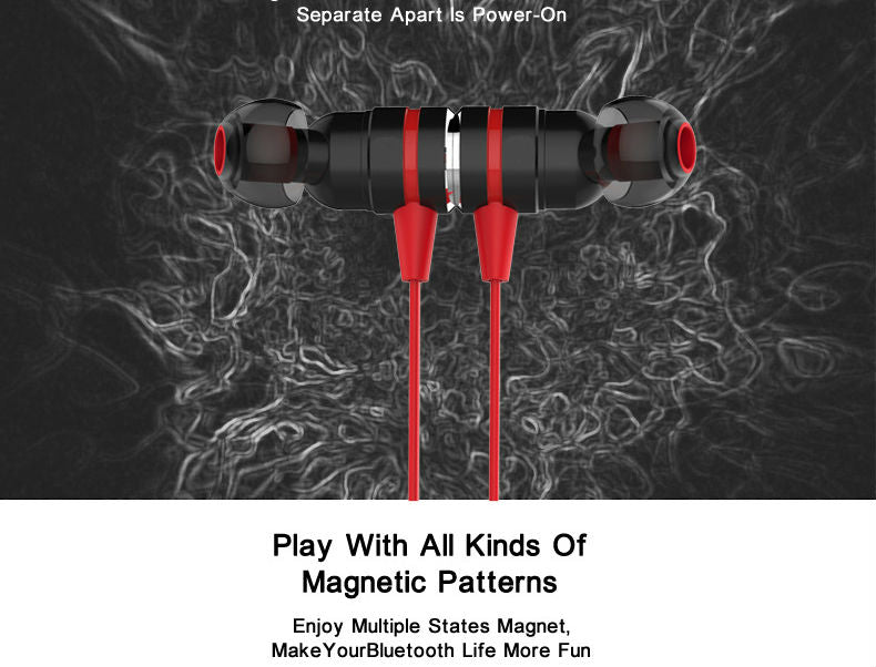 Magnetic suction swith mini wireless Bluetooth earphone stereo sport bluetooth earbuds - iDeviceCase.com