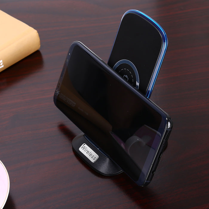 HAISSKY FAST Charger Qi Wireless Stand Charging For iPhone X 8 Plus Samsung Galaxy S6 Edge Plus S7 Edge S8 Plus Note 5 Note 8 - iDeviceCase.com