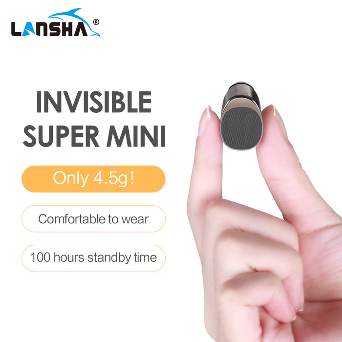 LANSHA Mini Bluetooth Earbuds Handsfree Noise Cancelling Smallest Wireless Earphone With Mic - iDeviceCase.com