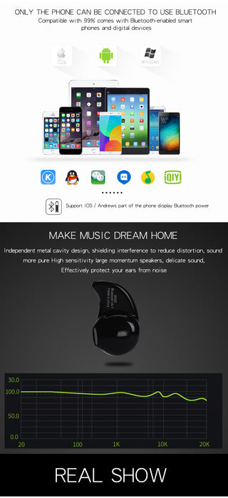 KEYSION Mini Style Bluetooth Headset Wireless Bluetooth Earphone Music Sport Stereo For iPhone X 8 Plus Samsung S8 Xiaomi Huawei - iDeviceCase.com