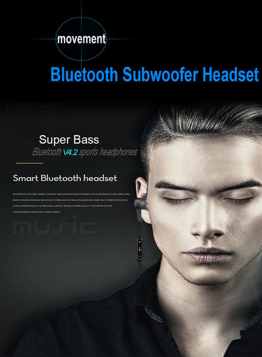 PTM Earphone Sport Headphone Bluetooth Headset Wireless Earbuds With Microphone Earpods - iDeviceCase.com
