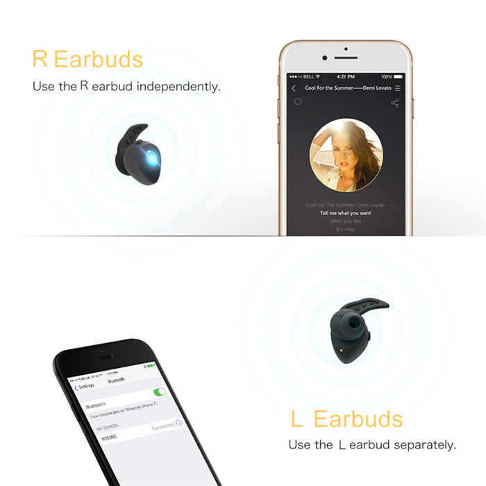 Mini Wireless Bluetooth Earbud Wireless Bluetooth Earphone Noise Reduction Volume Control For Cell phone Wonstart W305 - iDeviceCase.com