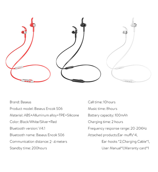 BASEUS Professional In-Ear Bluetooth Earphone Metal Heavy Bass High fidelity Sound Quality Music - iDeviceCase.com