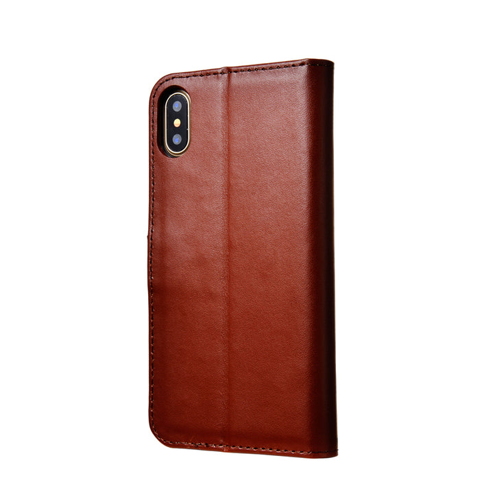 Case For iPhone X Phone Original TOMKAS Flip Wallet For iPhone X Case Coque PU Leather Cover For iPhone X With Card Holders - iDeviceCase.com