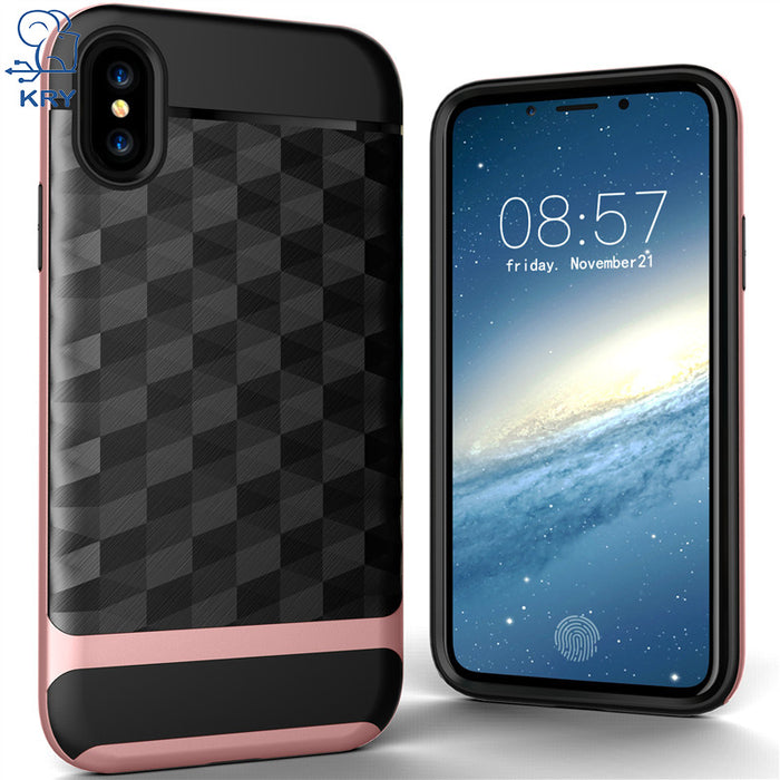 KRY Phone Cases For iPhone X Case Full Protective Soft TPU Hard PC Material Back Cover For iphone X Case Cover Anti-knock Cases - iDeviceCase.com