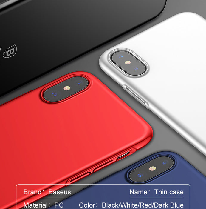 Baseus Luxury Slim Case For Apple iPhone X Ultra Thin Smooth Hard PC Phone Cases - iDeviceCase.com
